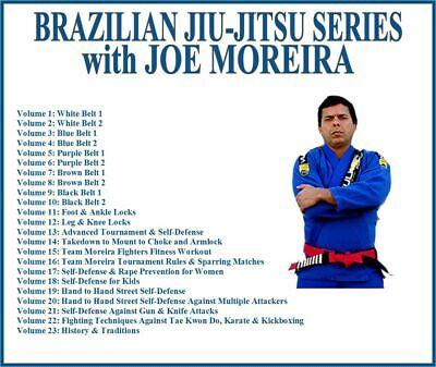 BRAZILIAN JIU JITSU Instructional Series (23) DVD Set BJJ foot ankle leg locks