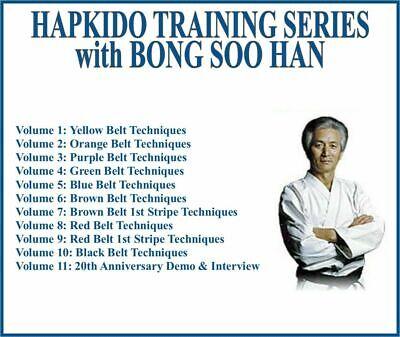 HAPKIDO INSTRUCTIONAL TRAINING SERIES (11) DVD SET belt techniques interview