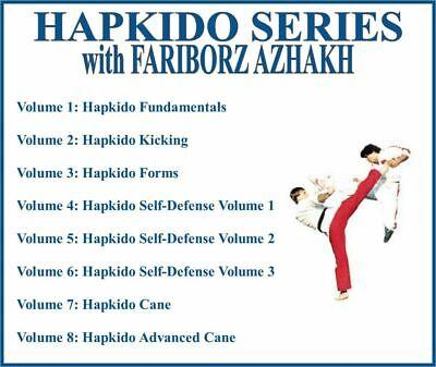 HAPKIDO Instructional Series (8) DVD Set kicking forms self defense cane