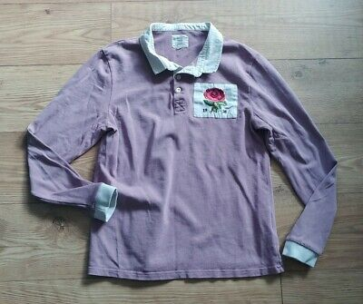 Kent & Curwen by David Beckham Rugby Shirt Dusty Pink Rose Size M