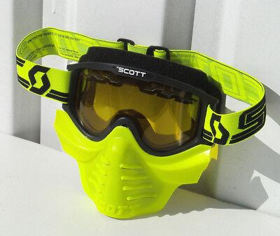 Paintball Airsoft Tactical Maske Schutzmaske Scott Brille Schwarz Neon-Gelben
