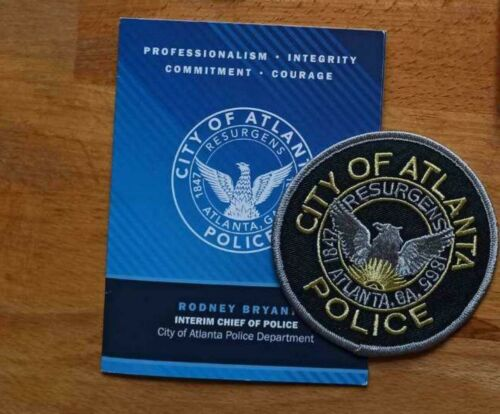 PATCH POLICE ATLANTA GEORGIA STATE + Presentation Folder Booklet