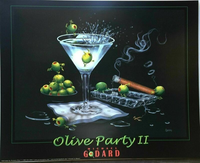 Michael Godard Olive Party II Print 24 X 30