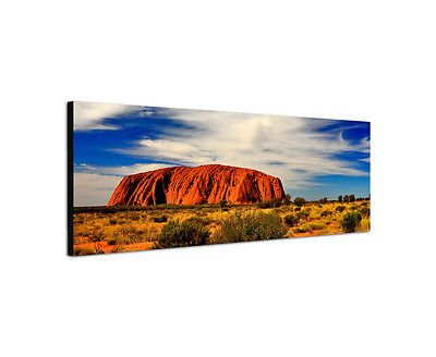 Ayers Rock (120x40cm Uluru Ayers Rock Panorama rot Fels Australien Hügel Leinwand Bild Sinus)