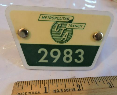 1960s Rare CTA Chicago Metro Transit Subway Badge 2983