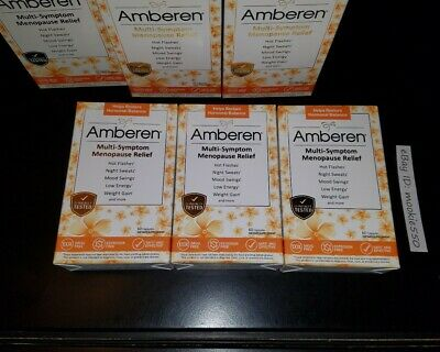 EXP 03/31/2023! 3 Box Lot Amberen Menopause Relief 180 Capsules (60X3) FRESH!