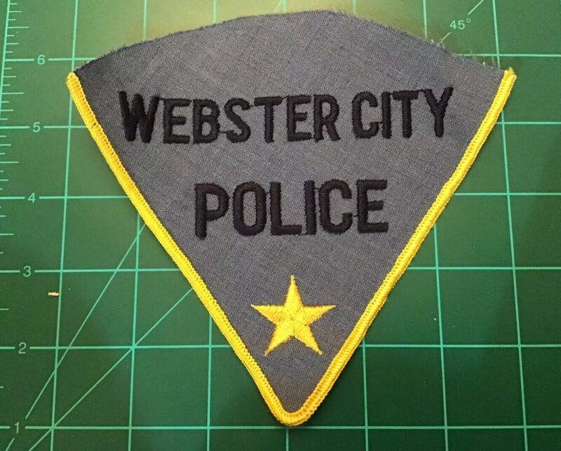 RARE VINTAGE OBSOLETE WEBSTER CITY IOWA POLICE PATCH