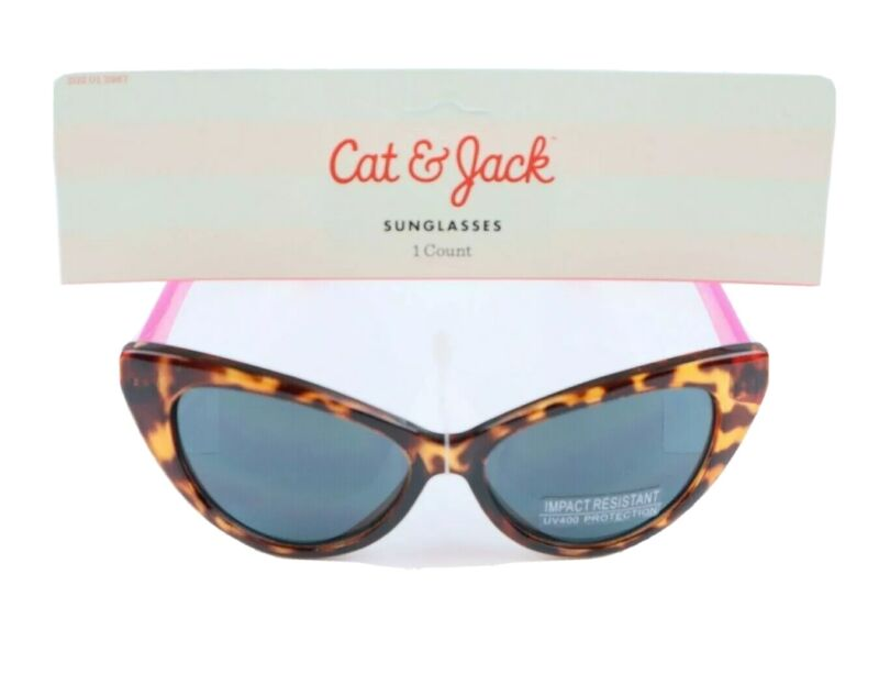 Cat & Jack Kids Tortoise Impact Resistant UV400 Protection Sunglasses NWT