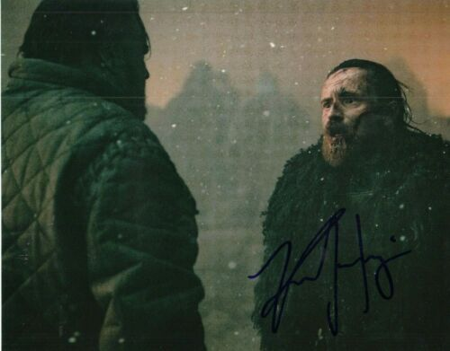 KRISTOFER HIVJU signed (GAME OF THRONES) 8X10 *Tormund Giantsbane* W/COA GOT#6