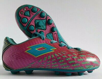 2ee6cacfbd58 Lotto Campione Soccer Cleats Girls Size 10K Youth Pink Blue