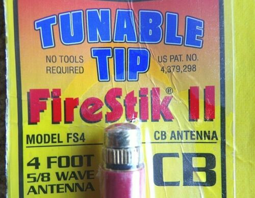 FIRESTICK II TUNABLE TIP RED - Model FS4 (4 foot)