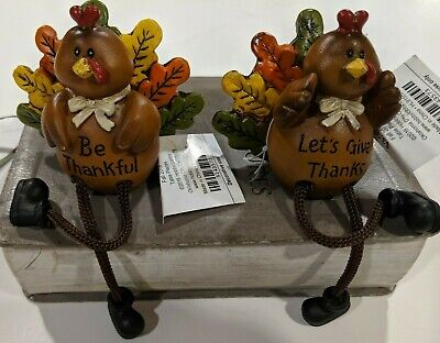 Turkey Sitter - Turkey Shelf Sitter W Dangling Legs Choice of Either One Or Other Or Both SAVE $