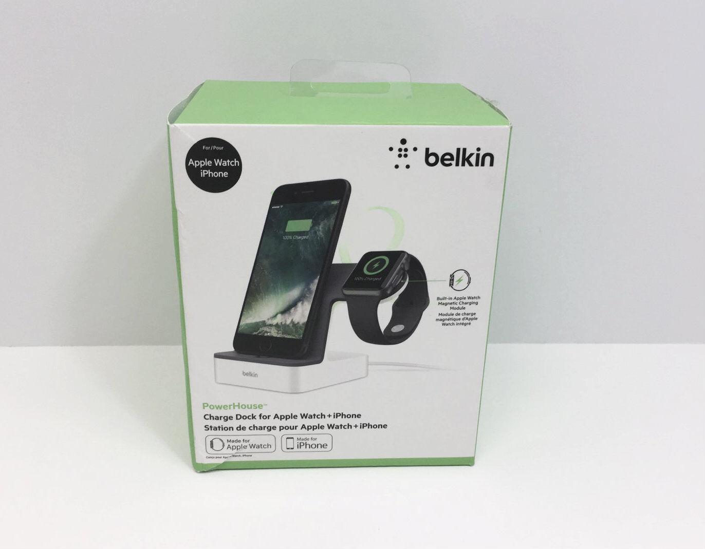 47147e200a635f New Belkin Powerhouse Charging Dock For Apple Watch   Iphone White  F8j200ttwht