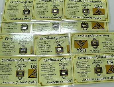 Precious Investment Metals Estate Lot  8 Diff  Bars  Gold Silver Platinum   More
