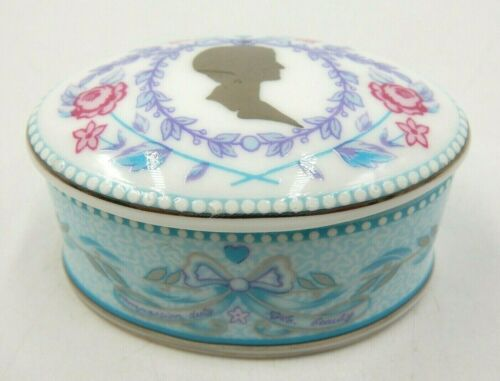 VINTAGE PRINCESS DIANA ALTHORP BUREAU-TOP FINE BONE CHINA SMALL TRINKET BOX