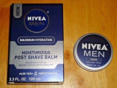 NIVEA Men Maximum Hydration Moisturizing Post Shave Balm 3.3 oz and Creme 1 oz