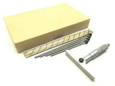 Nice Mitutoyo 0-6 Interchangeable Rod Depth Micrometer - 129-132
