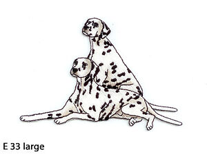 1PC-2-DALMATIAN-DOGS-IRON-ON-EMBROIDERED-APPLIQUE-PATCH