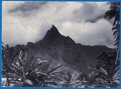 superb large vintage Agfa velvet print photo Marquesas Marquises Polynésie 1934