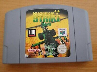 NUCLEAR STRIKE Nintendo 64 N64 Game PAL VERSION **ULTRA RARE**