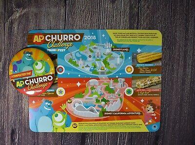 Disney Pixar Fest Disneyland AP I Completed Churro Challenge Map Button