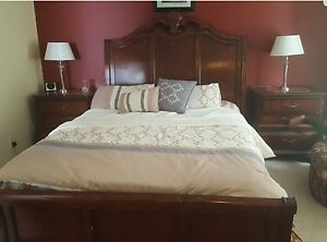 Queen bed with night stands for sale