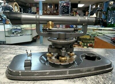 David White Old Vintage Sight Level Gray And Brass 8114 With Case Survey Tool