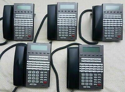 1090021 Qty. 5 Nec Dsx 34b Bl Display Tel Bk Dx7na-34btxbh Phone Year Warranty