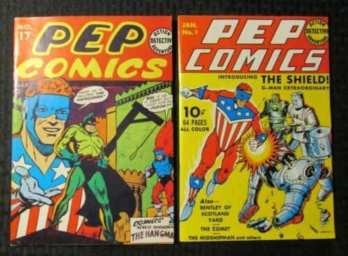 1970s FLASHBACK #7 & 16 FN+/FVF Reprint Pep Comics #1 17 Hangman The Shield