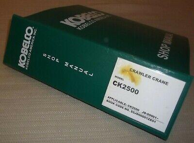 Kobelco Ck2500 Crawler Crane Service Shop Repair Workshop Manual