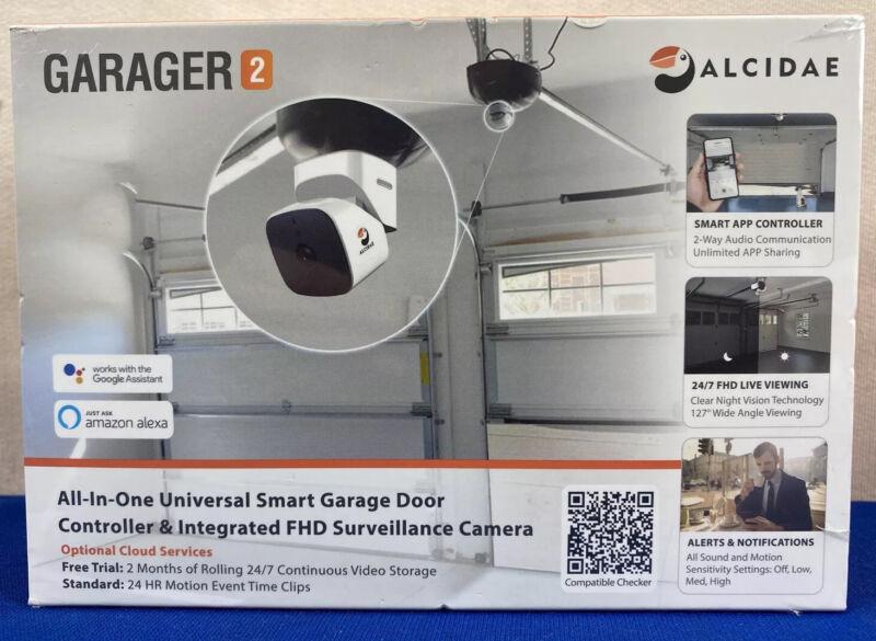 Alcidae Garager 2 Universal Smart Garage Door Controller & Surveillance NEW