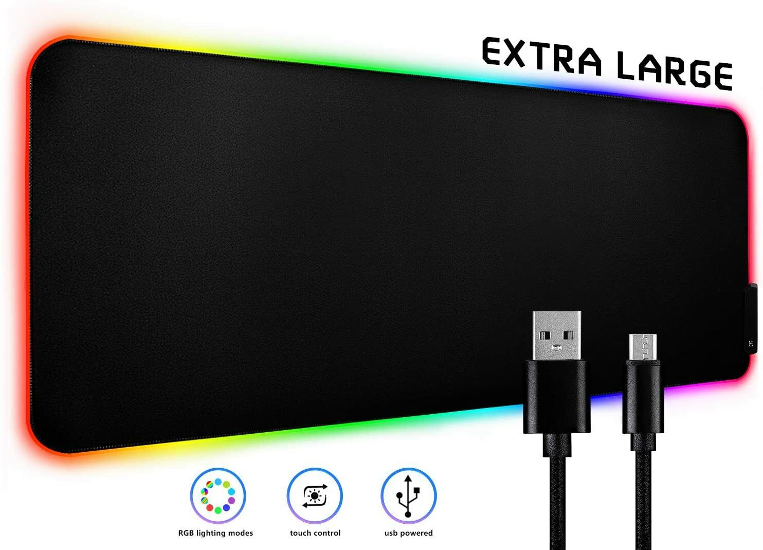 LED Extra Large Gaming Mouse Pad RGB Oversized Glowing 10 Co