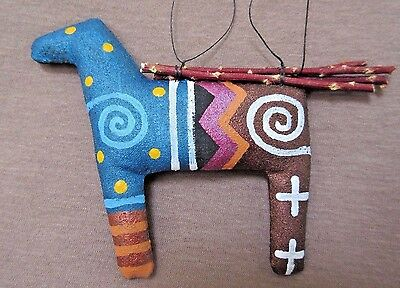 Native Navajo Handmade Soft Sculpture Horse Ornament by Peter Ray James  M0114