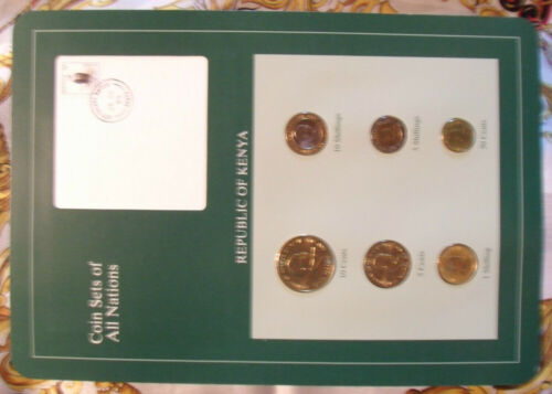 Coin Sets of All Nations Kenya 6 coin 1991 - 1995 UNC with card