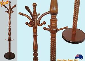 Solid Timber Coat Rack Hat Jacket Clothes Stand Hanger Chipping Norton Liverpool Area Preview