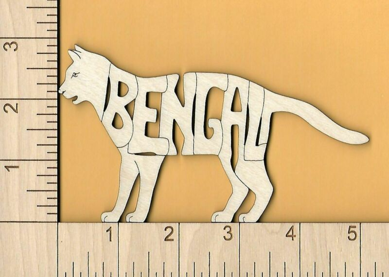 Bengal Cat laser cut and engraved wood Magnet Great Gift Idea