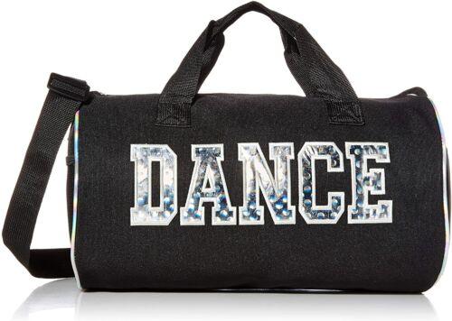 Girls Dance Duffle Bag Silver Dance Print