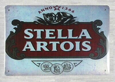wall decor online store Stella Artois beer alcohol tin metal (Online Metal Store)