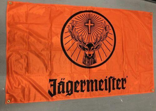 Jagermeister Sturdy orange Banner Flag - Large reinforced corners  3 x 5 ft