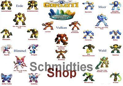 Wählen Sie ihre Figuren! Gormiti Titanium