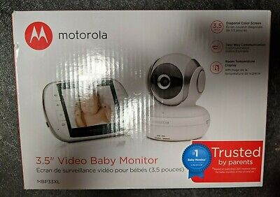 "Motorola 3.5"" Video Baby Monitor w/ Two-Way Communication MBP33XL PREOWNED"