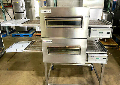 Lincoln 1132 Double Electric Conveyor Pizza Ovens Fully Refurbished Wwarranty