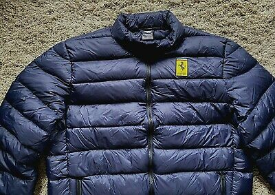 Rare - Unworn - Quality Puma Official Ferrari Mens Down Padded Jacket Coat