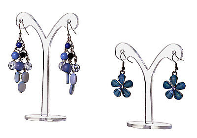 Dangle Earring Display Stand Jewelry Curved Design Display Set Of 2 Pack Of 6