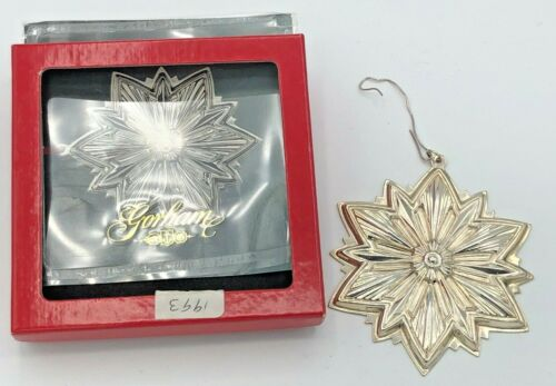Gorham Sterling Silver 1993 Annual Snowflake Ornament, with box