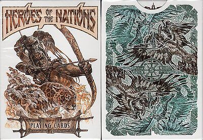 Heroes of the Nations Light Playing Cards Poker Size Deck USPCC Custom Limited  - Heroes Playing Cards