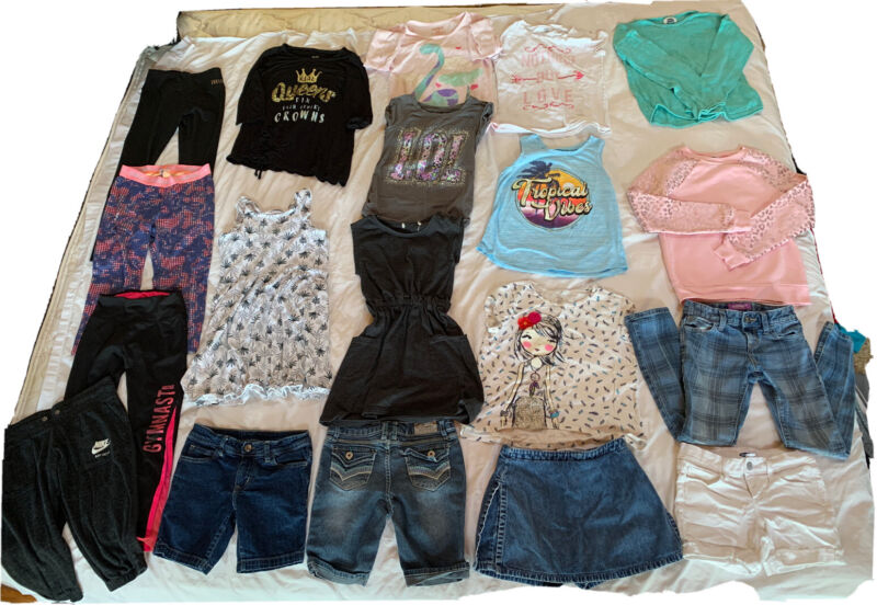 Huge Girls Summer Clothes Lot Size 7/8 Small Tank Tops, Shorts, Pants, Sweats