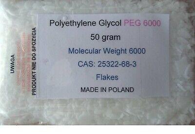 Polyethylene Glycol 6000 Peg 6000 - 50 Grams  Made In Poland