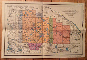 Old Maps of Algonquin Park & Ontario London Ontario image 2