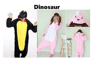 Dinosaur Kigurumi Anime Cosplay Pyjamas Costume Hoodies Adult Onesie19  UK Sell (Adult Onesie Dinosaur)